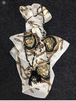 Designer Inspired Silk Feel Scarves - Lulu Bella Boutique