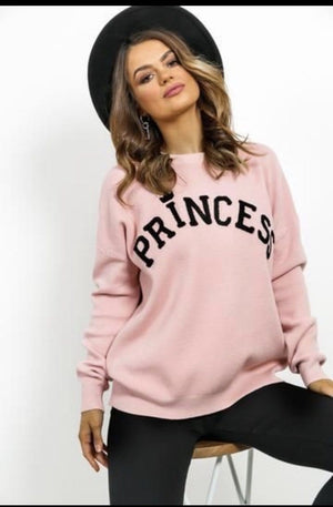 Princess Diamante Detail Jumper - Lulu Bella Boutique