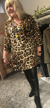 Lillian Leopard Print Tunic Dress - Lulu Bella Boutique
