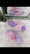 Cara Crossover Fluffy Slippers - Lulu Bella Boutique