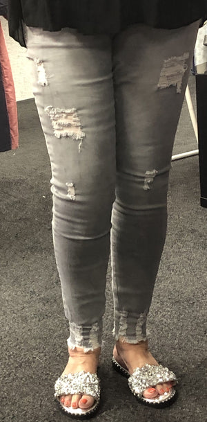 Chrissy Distressed Skinny Jeans - Lulu Bella Boutique