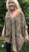 Tulisa V-Neck Exclusive Range Leopard Sweatshirt - Lulu Bella Boutique