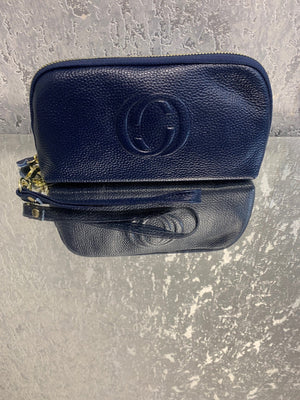 Gucci Inspired Real Leather Wristlet Bag - Lulu Bella Boutique
