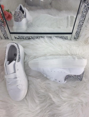 Elizabeth Glitter Detail Trainers - Lulu Bella Boutique