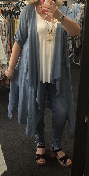 Darcy Duster Jacket - Lulu Bella Boutique