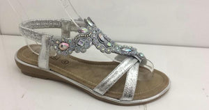 Becca Diamante Detail Sandals - Lulu Bella Boutique