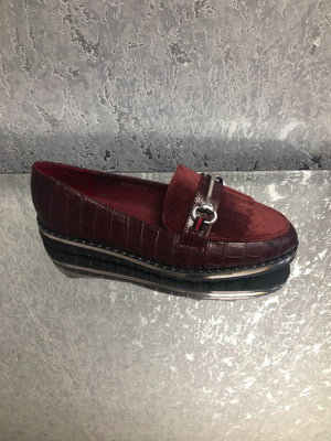 Gucci Inspired Patent and Suede Effect Loafers - Lulu Bella Boutique