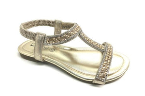 Carly Childrens Diamante Sandals - Lulu Bella Boutique