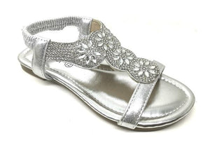 Kiera Childrens Diamante Sandals - Lulu Bella Boutique