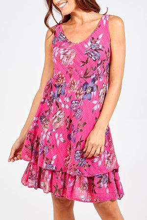 Fifi Floral Multi Layered Dress - Lulu Bella Boutique