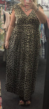 Aurora Foil Detail Leopard Print Maxi Dress - Lulu Bella Boutique