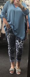 Miley Large Animal Print Magic Trousers - Lulu Bella Boutique
