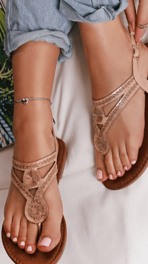 Shauni Toe Post Sandals - Lulu Bella Boutique
