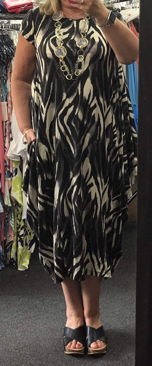 Tegan Tiger Print Parachute Dress - Lulu Bella Boutique