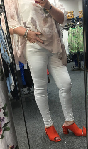 High Waist Skinny Distressed Jeans - Lulu Bella Boutique