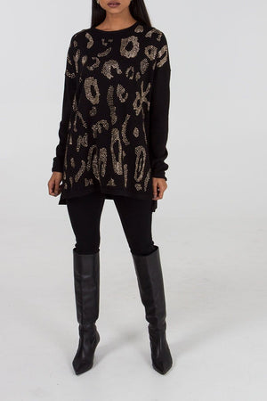 Dana Diamante Leopard Tunic