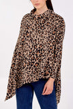 Charlotte Leopard Print Double Asymmetric Hem Sealed Top - Lulu Bella Boutique