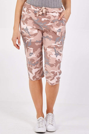 Miley Magic Camouflage Cropped Trousers - Lulu Bella Boutique