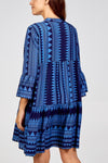 Aziza Aztec Smock Tunic Dress - Lulu Bella Boutique