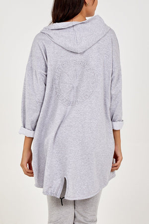 Norderny Embossed Hooded Cardigan - Lulu Bella Boutique
