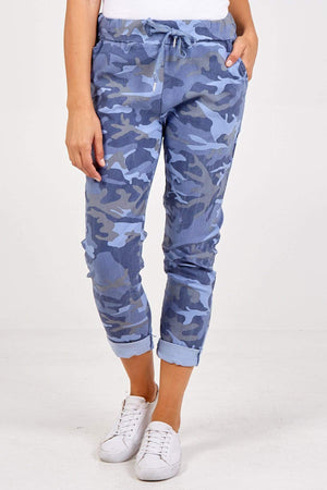 Miley Curvy Camouflage Magic Trousers - Lulu Bella Boutique