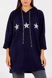 Gracie Glitter Stars Hooded Sweatshirt