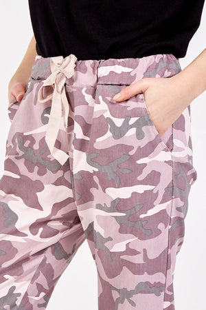 Miley Non Crush Curvy Super Stretch Camouflage Trousers - Lulu Bella Boutique