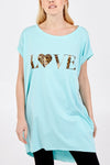 Casey Two Pocket Leopard Love Print Tunic - Lulu Bella Boutique