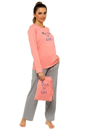 Queen of Naps Pyjamas with Gift Bag - Lulu Bella Boutique