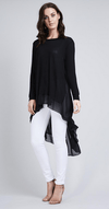 Stand out from the crowd with this beautiful free size chiffon back top in black