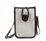 Get your hands on this gorgeous Phone Button Bag! This is perfect for those days out when you don't want to be lumbered down by your large bag! This will fit your phone and has space for your cards and cash along with a small pouch on the rear!
