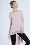 Stand out from the crowd with this beautiful free size chiffon back top in dusty pink!