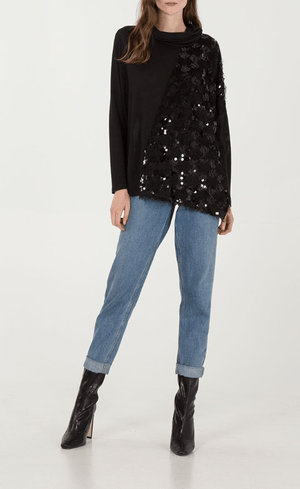 Stacey Sequin Detail Asymmetric Jumper