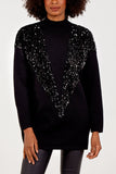 Shaina Sequin V Panel Jumper - Lulu Bella Boutique
