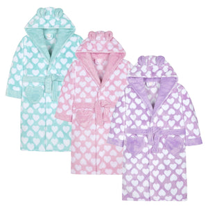 Girls Hooded Dressing Gown - Lulu Bella Boutique