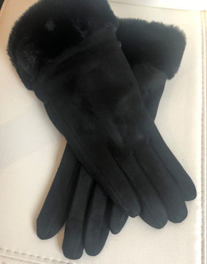 Terri Faux Fur Gloves