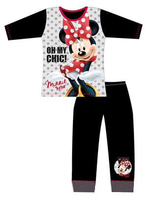 Girls Minnie Mouse Chic PJ's - Lulu Bella Boutique