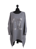 Chelsea Chanel Inspired Foil Print Tunic - Lulu Bella Boutique