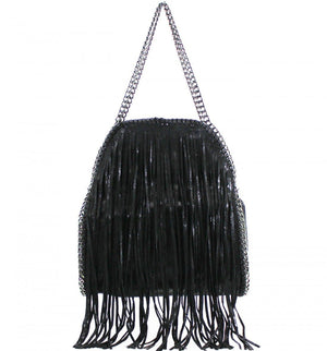 Laura Large Fringed Chain Detail Tote Bag