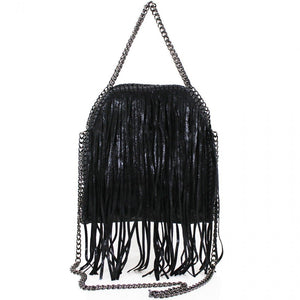 Laura Medium Fringed Chain Detail Tote Bag
