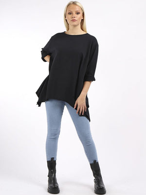 Frida Front Pocket Dipped Hem Tunic - Lulu Bella Boutique