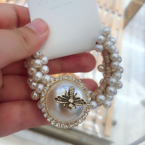 Gucci Inspired Pearl Bee Hair Bobble - Lulu Bella Boutique