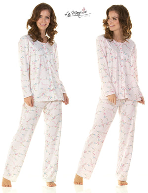 Beverely Cuddle Knit Long Sleeved Pyjamas - Lulu Bella Boutique