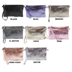 Whitney Leather Wristlet Bag - Lulu Bella Boutique