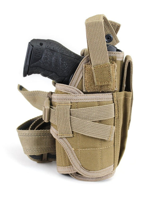 USMG Expandable Sidearm Pistol Holster - Coyote Tan