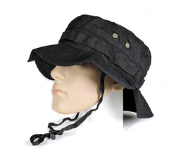 Black Military Boonie Hat - XL