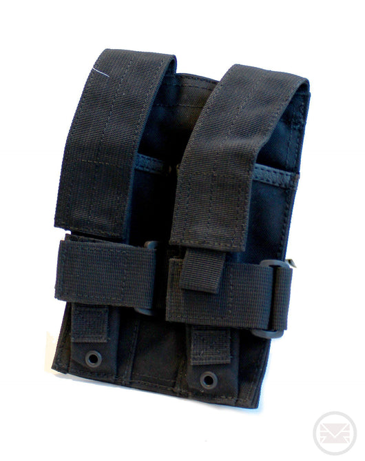 Black MOLLE 2X MP5 Magazine Pouch - Fits TiPX Mags-Modern Combat Sports