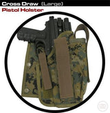 Cross Draw Pistol Holster (Right Hand - Big)-Modern Combat Sports