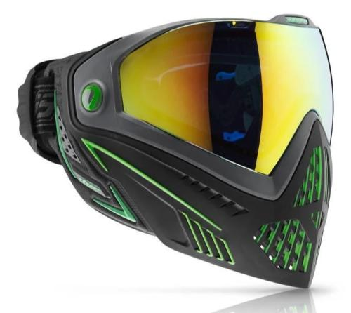 The Black and Emerald green Dye i5 goggle system is an aggressive, light weight mask, offering more protection, extra venting and better comfort than any other Paintball mask