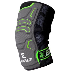 Grey and Lime Paintball Padding for the knee. Manufactured from a lightweight mesh which runs just below the knee to just below. Provides both protection and support  with extra padding which make these very comfortable when kneeling.